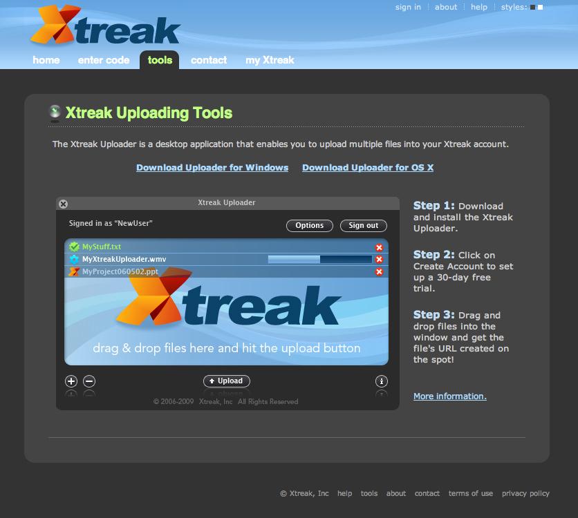 Xtreak Uploader